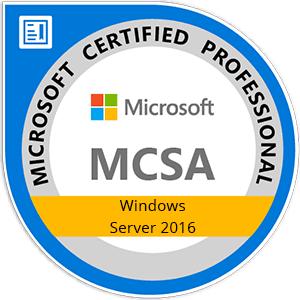 MCSA: Windows Server 2016